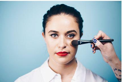 makeup on face